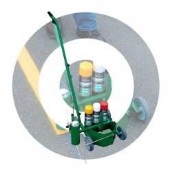 Carrello 4 ruote con porta spray