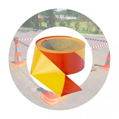 ruban de signalisation standard rouge jaune
