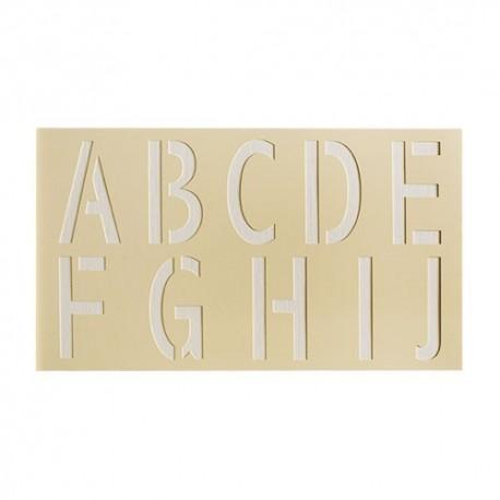 Pochoir lettres A à J